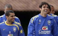 <p>Brasileiro Kaká em treinamento. 03/06/2009. REUTERS/Sergio Moraes</p>