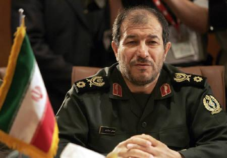 Iran's Defence Minister Mostafa Mohammad Najjar attends a meeting with his Syrian counterpart Lieutenant General Hassan Ali Turkmani (not in picture) in Tehran in this June 15, 2006 file photo. REUTERS/Morteza Nikoubazl/Files