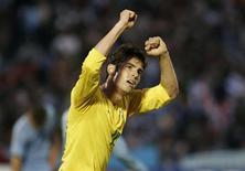 <p>Il brasiliano Kaka dopo un gol. REUTERS/Pablo La Rosa</p>