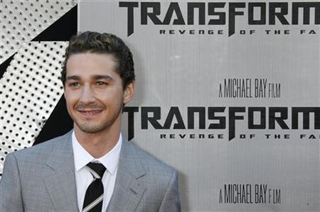 Actor Shia LaBeouf, star of ''Transformers: Revenge of the Fallen'' poses at the film's premiere in Los Angeles, California June 22, 2009. REUTERS/Fred Prouser