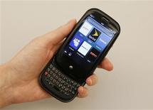 <p>Palm Pre é exibido em Nova York. A companhia anunciou prejuízo inferior ao esperado no quarto trimestre fiscal e destacou a forte demanda pelo celular inteligente Pre, que lançou recentemente. Os anúncios faziam as ações da companhia disparar mais de 16 por cento nesta sexta-feira.</p>