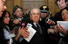 <p>Ministro per lo sviluppo economico Claudio Scajola a Roma. REUTERS/Alessandro Bianchi</p>