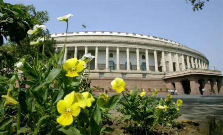 A view of the Indian parliament building on the first day of the budget session in New Delhi in this February 2006 file photo.  REUTERS/B Mathur