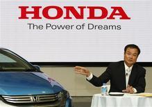 <p>Takanobu Ito, presidente-executivo da Honda, em Tóquio. 13/07/2009. REUTERS/Kim Kyung-Hoon</p>