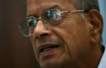 Delhi Metro Rail Corporation managing director Elattuvalapil Sreedharan, 77, speaks during an interview with Reuters in New Delhi July 2, 2009. REUTERS/Vijay Mathur/Files