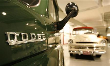 A vintage Dodge pickup truck sits on display at the Walter P. Chrysler museum in Auburn Hills, Michigan June 19, 2009. REUTERS/Molly Riley