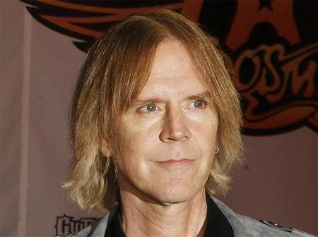 Aerosmith's Tom Hamilton attends a press conference for the new video game ''Guitar Hero: Aerosmith'' in New York, June 27, 2008. REUTERS/Lucas Jackson