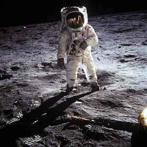 This NASA file image shows Apollo 11 U.S. astronaut Buzz Aldrin standing on the Moon, next to the Lunar Module ''Eagle'' (R), July 20, 1969. Apollo 11 was launched forty years ago today on July 16, 1969, and carried astronauts Neil Armstrong, who was the Mission Commander and the first man to step on the Moon, Aldrin, who was the Lunar Module Pilot, and Michael Collins, who was the Command Module pilot. Armstrong took this photograph. REUTERS/Neil Armstrong-NASA/Handout