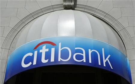 A Citibank logo is seen above a bank branch in New York, April 28, 2009. REUTERS/Lucas Jackson