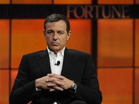 Robert Iger, president and CEO of The Walt Disney Company, speaks during the ''Digital Kingdom: New Business Models For a Media Giant'' panel at the Fortune Tech Brainstorm 2009 in Pasadena, California July 22, 2009. REUTERS/Phil McCarten