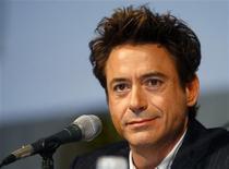 """<p>Ator Robert Downey Jr. durante coletiva de imprensa sobre """"Homem de Ferro 2"""" em San Diego. 25/07/2009. REUTERS/Mike Blake</p>"""