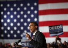 <p>President Barack Obama speaks at a rally for State Senator Creigh Deeds, who is running for Governor of Virginia, in McLean, Virginia, August 6, 2009. REUTERS/Jim Young</p>