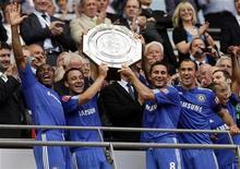 <p>Calcio: coppa inglese al Chelsea, United ko ai rigori. REUTERS/Darren Staples</p>