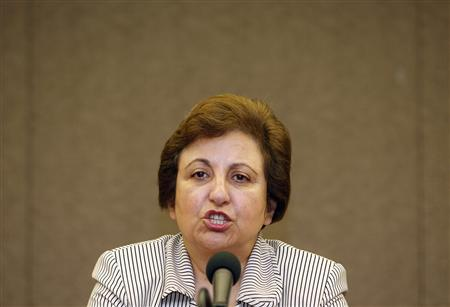 Iranian Nobel Peace Prize laureate Shirin Ebadi speaks to the media during a news conference in Seoul August 11, 2009. REUTERS/Jo Yong-Hak