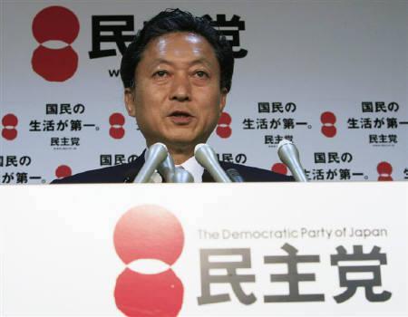 8月11日、民主党の鳩山代表は、成長戦略では海洋資源開発や航空宇宙産業分野にも焦点を当てることが大事だと述べた(2009年 ロイター/Kim Kyung-Hoon)