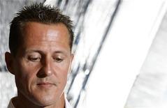 <p>L'ex pilorta di Formula Uno Michael Schumacher. REUTERS/Denis Balibouse</p>