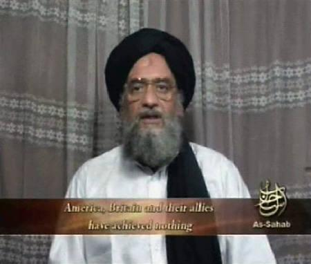 Al Qaeda's deputy leader Ayman al-Zawahri speaks in an image taken from video footage released on April 29, 2006. He accused the United States of leading a crusade to turn Pakistan into a divided nation and urged Pakistanis to join in a jihad to resist. REUTERS/Handout/Files