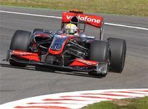 <p>Lewis Hamilton liderou os treinos para o GP da Bélgica. REUTERS/Yves Herman</p>