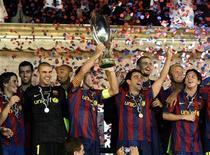 <p>Barcelona conquistou a Supercopa com gol de Pedro na prorrogação. REUTERS/Sebastien Nogier</p>