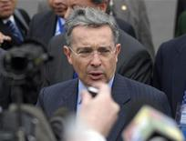 <p>Il presidente colombiano Alvaro Uribe. REUTERS/Alejandra Bartoliche</p>