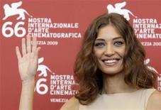 """<p>L'attrice Margareth Made alla Mostra del Cinema di Venezia, oggi. Made recita nel film di Giuseppe Tornatore """"Baaria"""". REUTERS/Tony Gentile</p>"""