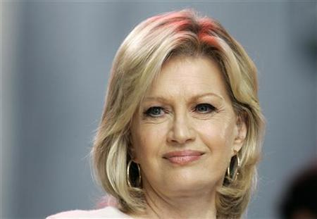 Diane Sawyer, co-anchor of ABC's ''Good Morning America'' television show is pictured on the program in New York October 9, 2007. REUTERS/Gary Hershorn