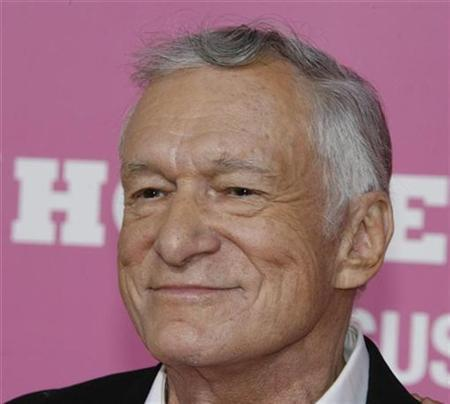 Hugh Hefner, one of the stars of the comedy film ''The House Bunny'', poses at the film's premiere in Los Angeles August 20, 2008. REUTERS/Fred Prouser