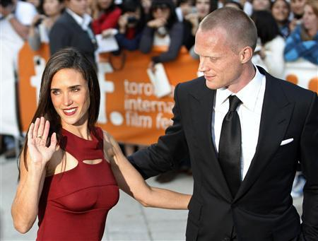 Jennifer Connelly and husband Paul Bettany arrive for the gala presentation for the film 'Creation'' at the Toronto International Film Festival, September 10, 2009. REUTERS/Mike Cassese