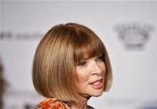 "<p>Editor of Vogue, Anna Wintour, arrives for a screening of the film ""The September Issue"" in New York August 19, 2009. REUTERS/Lucas Jackson</p>"