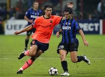 <p>Inter e Barça empataram por 0 x 0 em estreia na Liga dos Campeões. REUTERS/Alessandro Bianchi</p>
