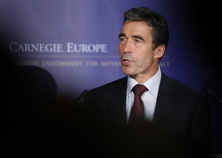 NATO Secretary General Anders Fogh Rasmussen delivers a speech in Brussels September 18, 2009. REUTERS/Francois Lenoir