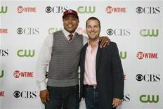 <p>Actors LL Cool J (L) and Chris O'Donnell pose at a CBS, CW, CBS Television Studios and Showtime party for the Television Critics Association Cable summer press tour at the Huntington Library in San Marino, California August 3, 2009. REUTERS/Mario Anzuoni</p>