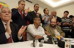 <p>Ex-jogador Romário em cerimônia de filiação ao Partido Socialista Brasileiro (PSB) no Rio de Janeiro REUTERS/Bruno Domingos</p>