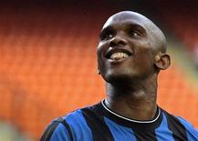 <p>O atacante camaronês Samuel Eto'o processa seu ex-clube Barcelona por taxa de transferência REUTERS/Alessandro Garofalo (ITALY SPORT SOCCER)</p>