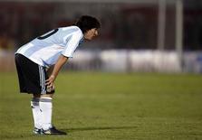 <p>Lionel Messi quer ser tão bom na seleção argentina quanto é no Barcelona REUTERS/Marcos Brindicci (PARAGUAY SPORT SOCCER)</p>