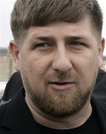 Chechen President Ramzan Kadyrov speaks with the media during his visit to the Chechen capital of Grozny February 19, 2008. REUTERS/Denis Sinyakov