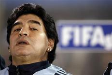 <p>Diego Maradona promete tirar Argentina do fundo do poço REUTERS/Marcos Brindicci (PARAGUAY SPORT SOCCER)</p>