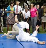 <p>O presidente dos Estados Unidos, Barack Obama, participou de evento na Casa Branca semana passada para promover a candidatura de Chicago e sede dos Jogos Olímpicos de 2016. REUTERS/Larry Downing</p>