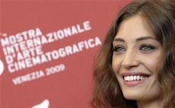 """<p>Margareth Made protagonista femminile di """"Baaria"""", il film presentato da Giuseppe Tornatore alla Mostra del cinema di Venezia. REUTERS/Tony Gentile</p>"""