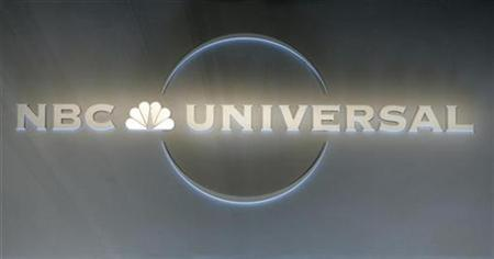 An NBC Universal logo is pictured at the NBC Universal Summer press tour in Beverly Hills, California July 21, 2008. REUTERS/Fred Prouser