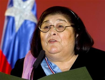 Argentine folk singer Mercedes Sosa is seen in this file photo taken in May 2000, in Buenos Aires. Sosa, 74, who fought South America's dictators with her voice and became a giant of contemporary Latin American music, died October 4, 2009 in Buenos Aires. REUTERS/Enrique Marcarian