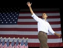 <p>U.S. President Barack Obama waves as he attends an AFL-CIO Labor Day picnic at Coney Island in Cincinnati September 7, 2009. REUTERS/Larry Downing</p>