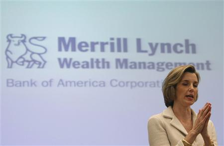 Sallie Krawcheck, President of Bank of America Global Wealth & Investment Management, speaks at a news conference in New York, October 5, 2009. REUTERS/Brendan McDermid