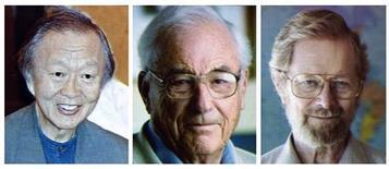 <p>Imagem combinada com os retratos dos três vencedores do Prêmio Nobel de Física de 2009. Um pioneiro das fibras óticas e dois cientistas que descobriram como transformar a luz em sinais eletrônicos - o que abriu caminho para a era da Internet - ganharam na terça-feira o Prêmio Nobel de Física de 2009.06/10/2009.REUTERS/Scanpix</p>