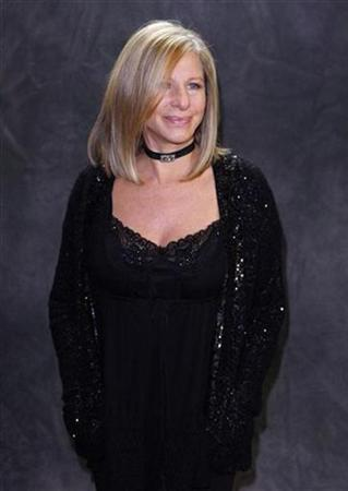 Singer Barbra Streisand poses after performing at the Village Vanguard in New York, September 26, 2009. REUTERS/Chip East