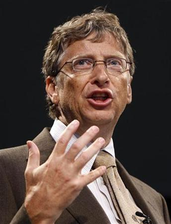 Microsoft founder Bill Gates delivers a speech during a dedication ceremony for the Gates Center for Computer Science at Carnegie Mellon University in Pittsburgh, Pennsylvania September 22, 2009. REUTERS/Chris Wattie