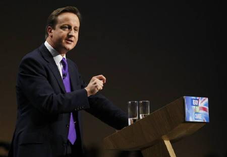 Britain's opposition Conservative Party leader David Cameron in Manchester, northern England, October 8, 2009. Britain's Conservative Party views the European Union with a mix of distrust and distaste. The feeling is mutual, with few, if any EU leaders looking forward to the prospect of David Cameron taking power next year. REUTERS/Phil Noble/Files