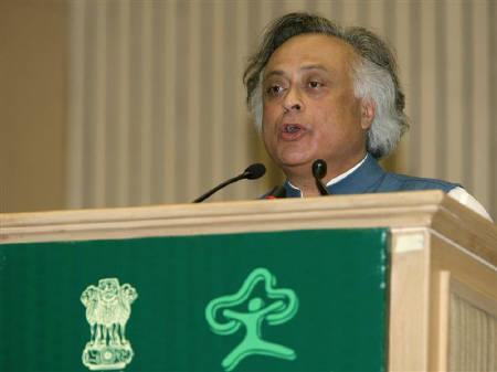 India's Environment Minister Jairam Ramesh speaks during a national conference with ministers of environment and forests in New Delhi in this August 2009 file photo. REUTERS/B Mathur/Files