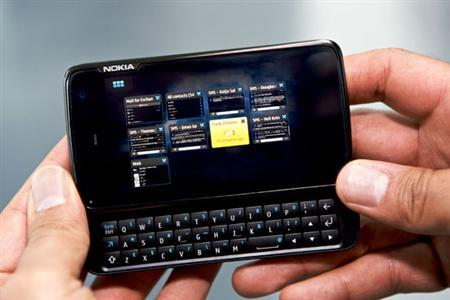 The Nokia N900 is seen in an undated handout photo. REUTERS/Nokia/Handout