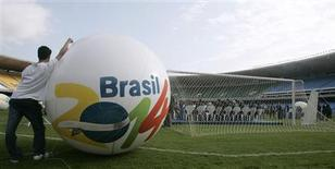 <p>BNDES definiu condições para financiamento de arenas para a Copa do Mundo de 2014 (foto de arquivo). REUTERS/Sergio Moraes</p>